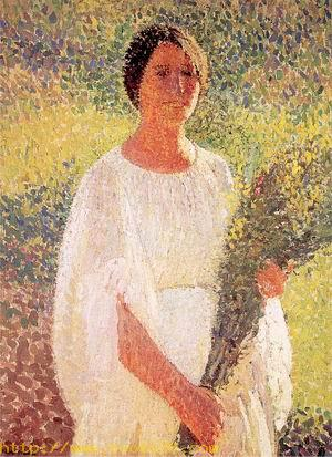 Woman with Flowers 1900