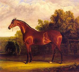 Negotiator the Bay Horse in a Landscape 1826