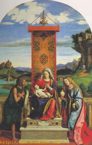 The Madonna and Child with St John the Baptist and Mary Magdalen 1510-15