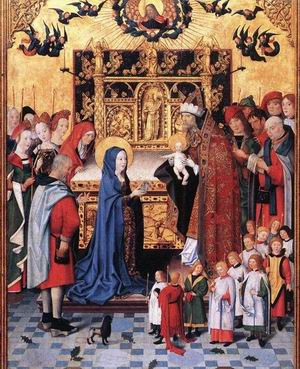 Altarpiece of the Seven Joys of Mary(centre) c. 1480