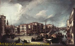The Grand Canal with the Rialto Bridge in the Background 1724-25