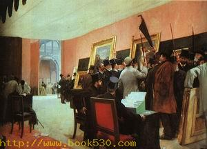A Painting Jury, 1885
