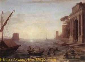A Seaport at Sunrise 1674