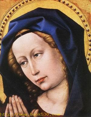 Blessing Christ and Praying Virgin (detail) c. 1424