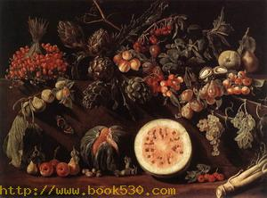 Fruit, Vegetables and a Butterfly c. 1620
