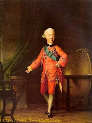 Grand Prince Pavel Petrovich in his Study 1766