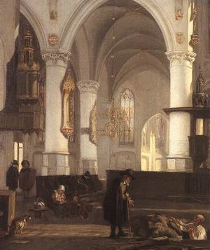 Interior of the Oude Kerk at Amsterdam from the North Aisle to the East