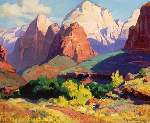 Pinnacle Rock, Zion National Park in Utah 1928