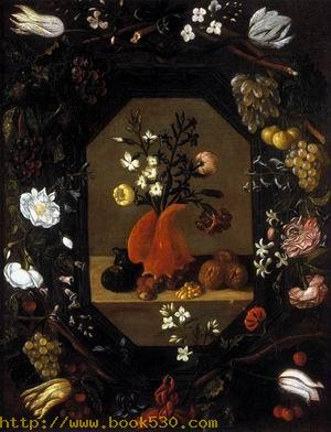 Still-Life with Flowers with a Garland of Fruit and Flowers c. 1645