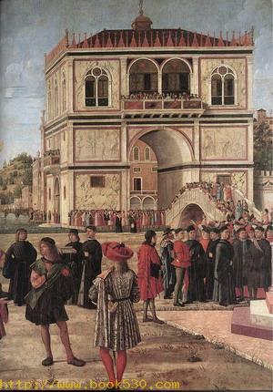 The Ambassadors Return to the English Court (detail) 1495-1500