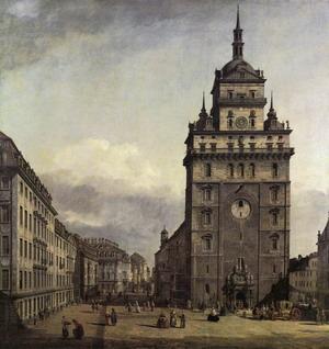 The Kreuzkirche in Dresden 1747-56