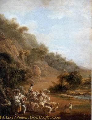 Village Scene and View of Fuenterrabia 1786