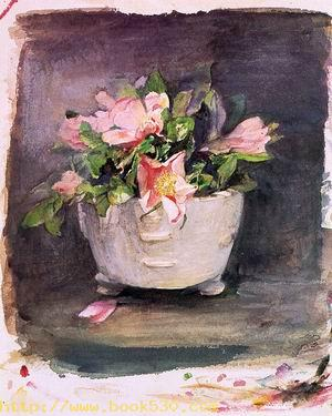 Wild Roses in an Antique Chinese Bowl 1880
