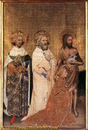 Wilton Diptych, Richard II of England with his patron saints 1395