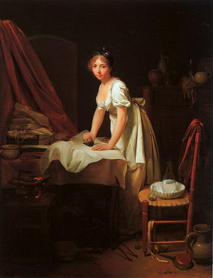 Young Woman Ironing, 1800