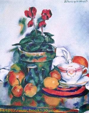 Still Life wit Cyclamen and Fruit 1920