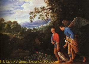 Tobias and the Archangel Raphael Returning with the Fish, mid 1600s