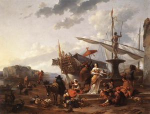 A Southern Harbour Scene 1657-59