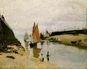 Breakwater at Trouville, Low Tide.1870