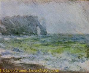Etretat in the Rain 1885-1886
