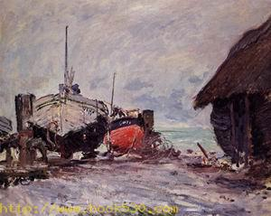Fishing Boats at Etretat 1883