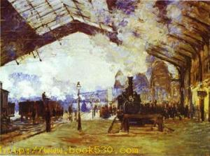Gare Saint Lazare the Train from Normandy. 1877