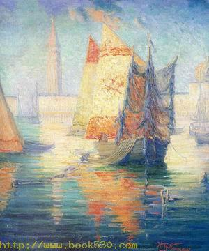 Golden Hour in Venice 1895