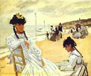 On the Beach at Trouville. 1870