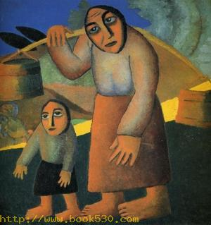 Peasant Woman with Buckets and a Child 1912