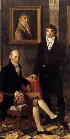 Portrait of Francois Wynckelman, Francois van der Donckt and Joseph Odevaere 1805