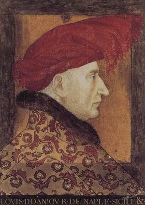 Portrait of Louis II, Duke of Anjou 1412-15