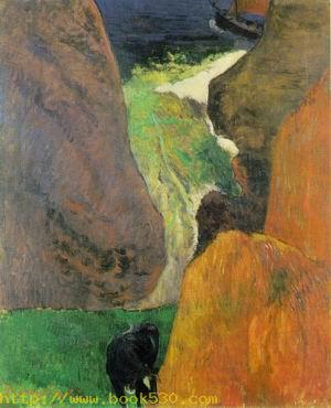 Seascape with Cow on the Edge of a Cliff 1888