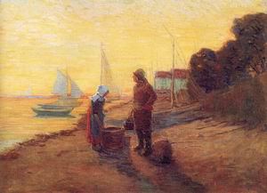Shore Scene, Sunset