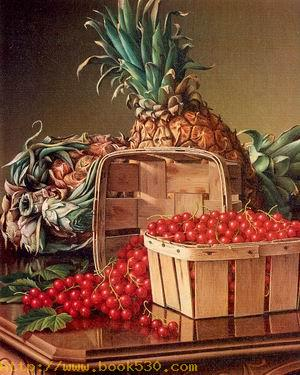 Still Life with Pineapple and Basket of Currants 1892