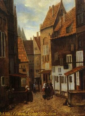 Street Scene with Six Figures