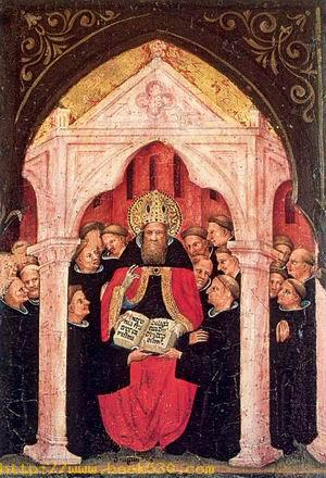 The Saint Gives the Rule to His Followers Approx. 1415