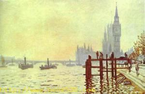 The Thames at Westminster (Westminster Bridge). 1871