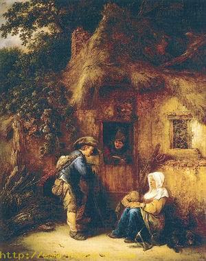 Traveller at a Cottage Door 1649