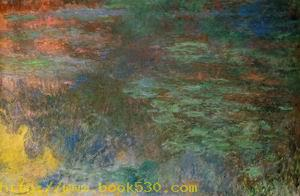 Water-Lily Pond,Evening (left panel)
