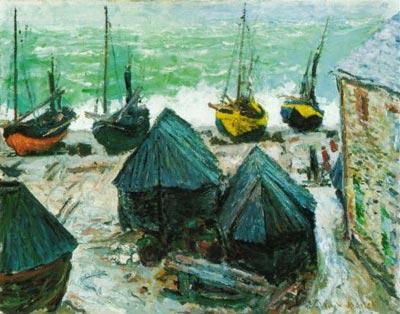 Boats on the Beach at Etretat