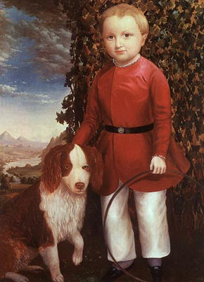 Portrait of a Boy with a Dog