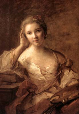 Portrait of a Young Woman Painter