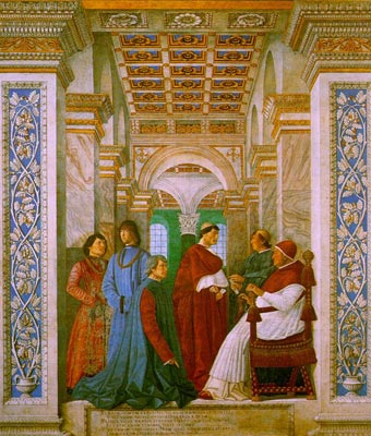 Sixtus II with his Nephews and his Librarian Palatina
