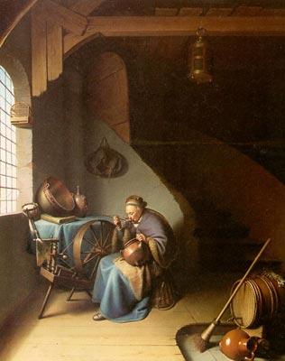 Woman Eating Porridge