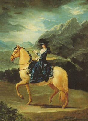 Maria Teresa of Vallabriga on Horseback