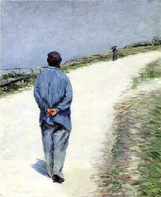 Man in a Smock, or Father Magliore on the Road between Saint-Clair and Etretat