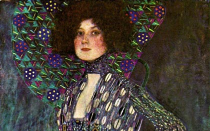 Portrait of Emilie Floge (detail)