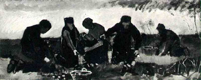 Potato Digging (Five Figures)