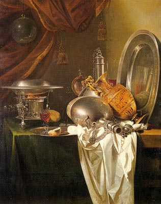 Still Life with Chafing Dish, Pewter