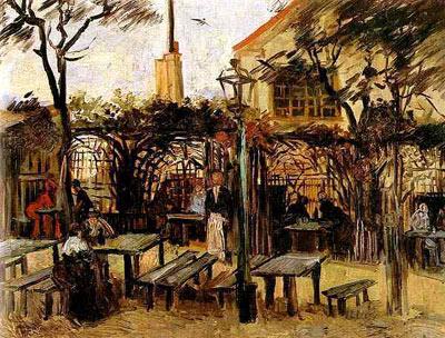 Terrace of a Cafe on Montmartre (La Guinguette)